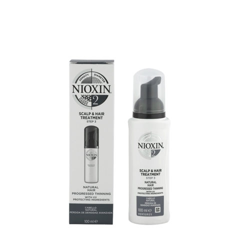 Nioxin Sistema 2 Scalp & Hair Treatment 100ml - Lozione Anticaduta Capelli Naturali Visibilmente Deboli e Radi