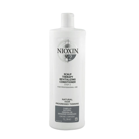 Nioxin Sistema2 Scalp therapy Revitalizing conditioner 1000ml - capelli naturali visibilmente deboli e radi