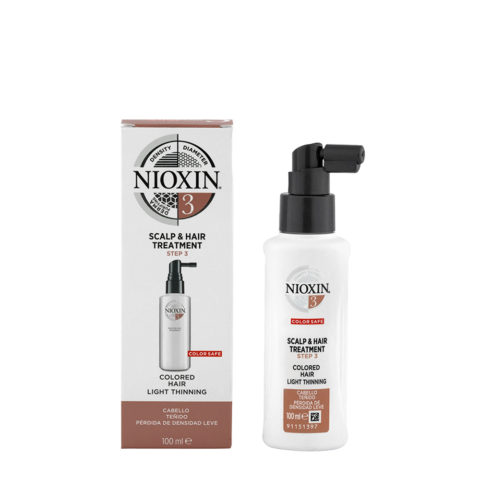 Nioxin Sistema3 Scalp & hair Treatment 100ml - capelli colorati diradati