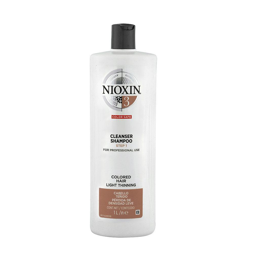 Nioxin Sistema3 Cleanser Shampoo 1000ml - shampoo anticaduta