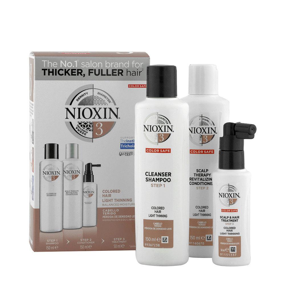 Nioxin Sistema3 Pacchetto completo - capelli colorati diradati