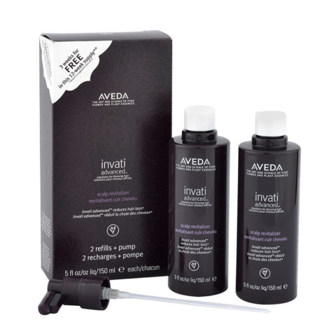 Aveda Invati advanced™ Scalp revitalizer 2x150ml - kit trattamento rinforzante per capelli fini