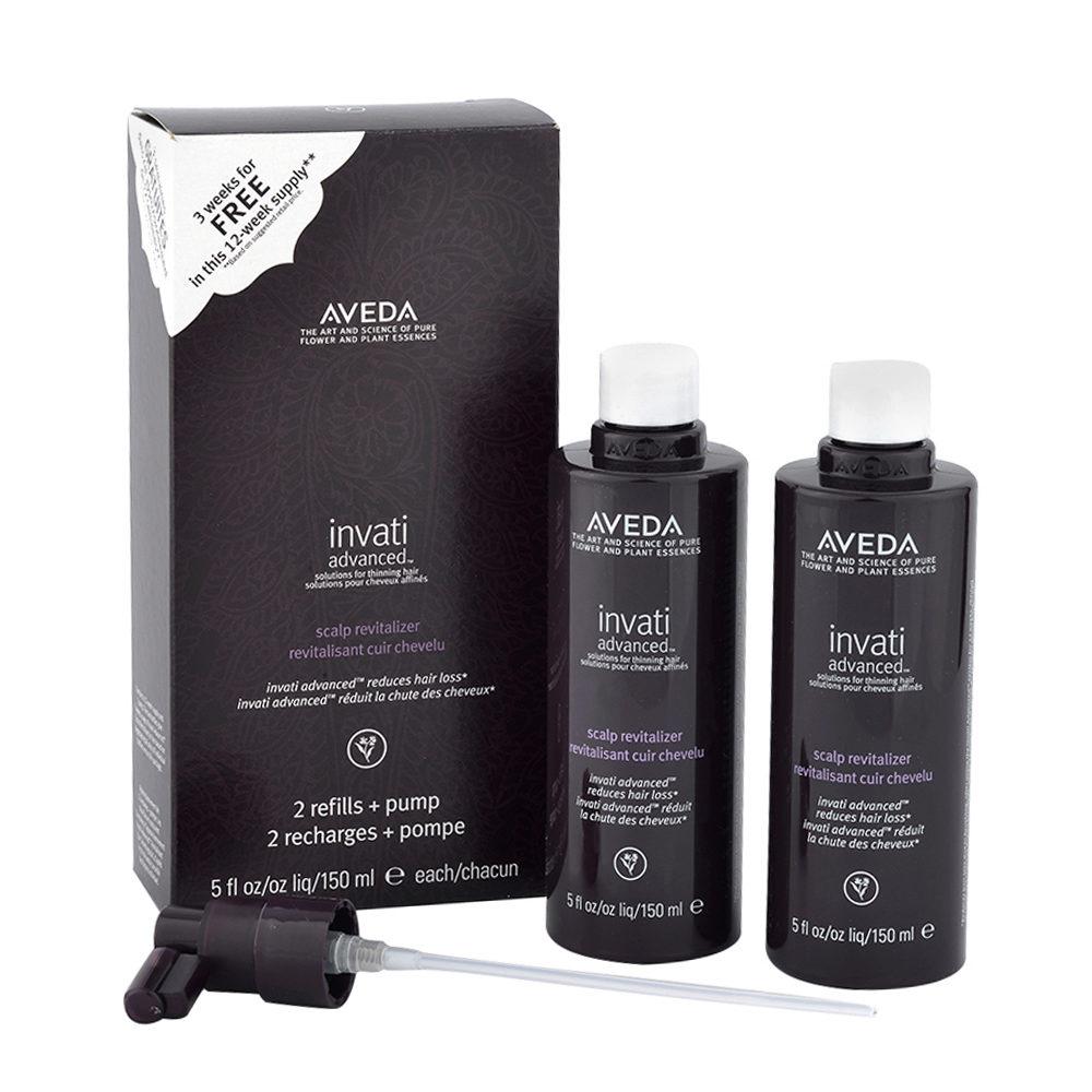 Aveda Invati advanced™ Scalp revitalizer 2x150ml - kit trattamento rinforzante per capelli fini