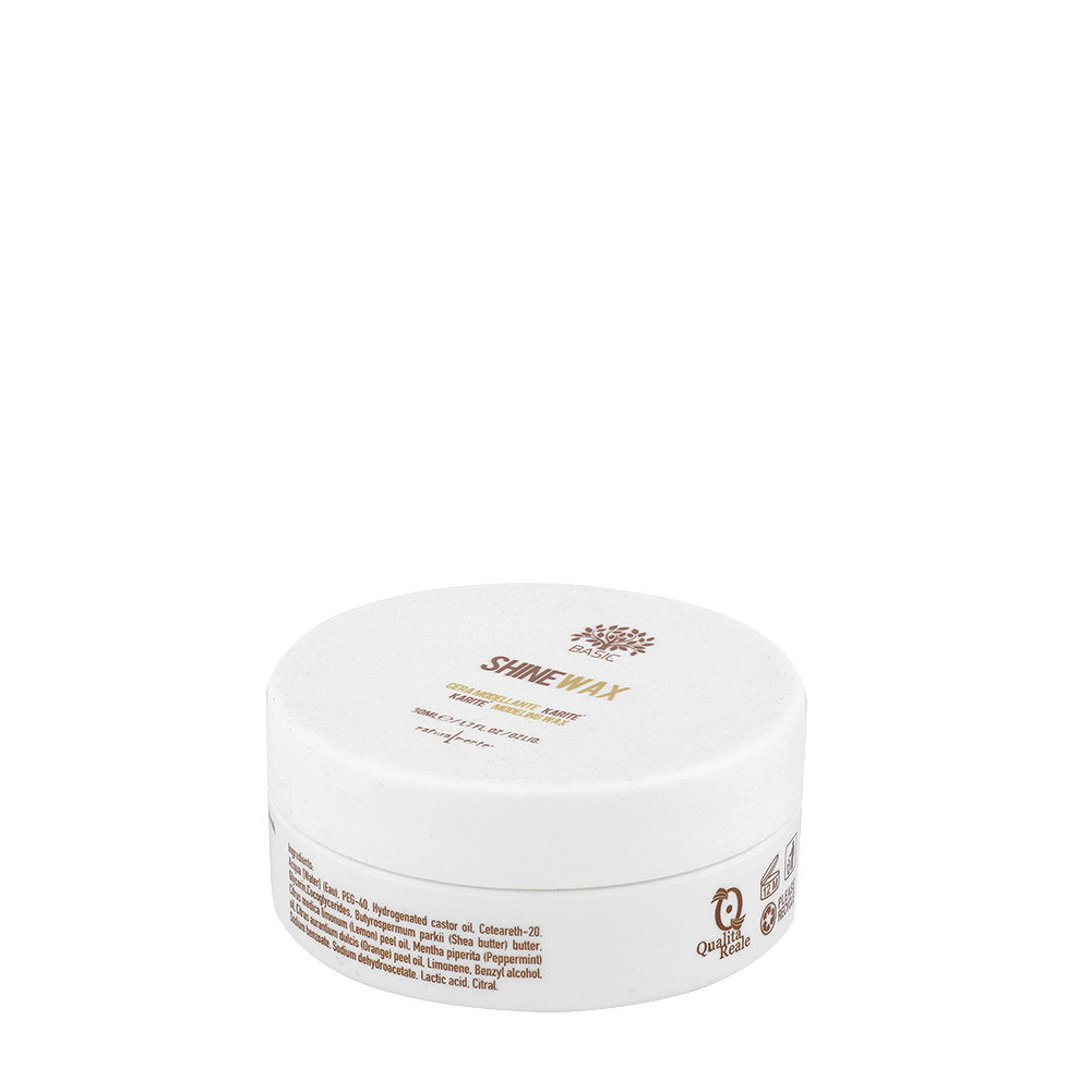 Naturalmente Basic Shine wax 50ml - cera modellante lucida Karité