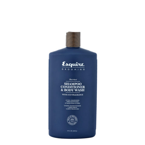 Esquire The 3-in-1 Shampoo Conditioner & Body Wash 414ml - shampoo balsamo e bagnoschiuma