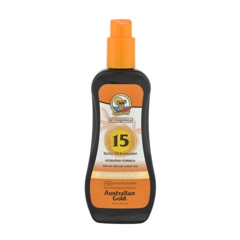 Australian Gold Protezioni Solari SPF15 Spray con olio di carota 237ml