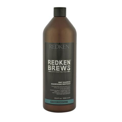 Redken Brews Man Mint Shampoo 1000ml - shampoo alla menta energizzante