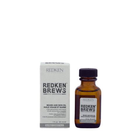 Redken Brews Man Beard and skin oil 30ml - olio da barba e idratante per pelli secche