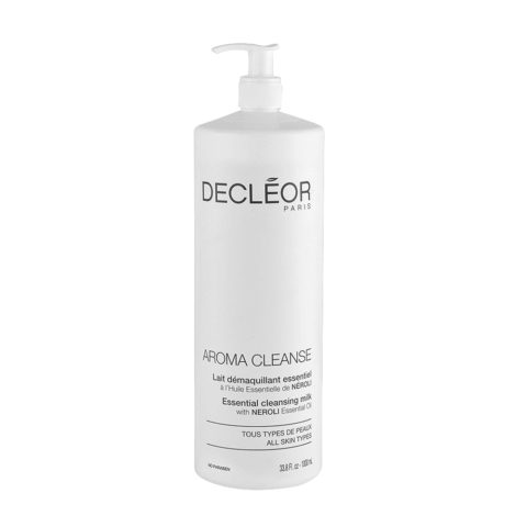 Decléor Aroma Cleanse Lait Démaquillant Essentiel 1000ml - latte detergente tutti i tipi di pelle