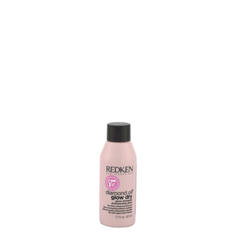 Redken Diamond Oil Glow Dry Gloss Shampoo 50ml - shampoo lucidante