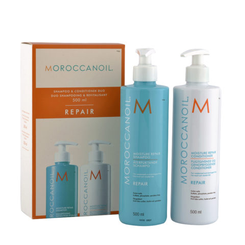 Moroccanoil Kit Moisture repair Shampoo 500ml Conditioner 500ml - Kit shampoo e balsamo ristrutturanti