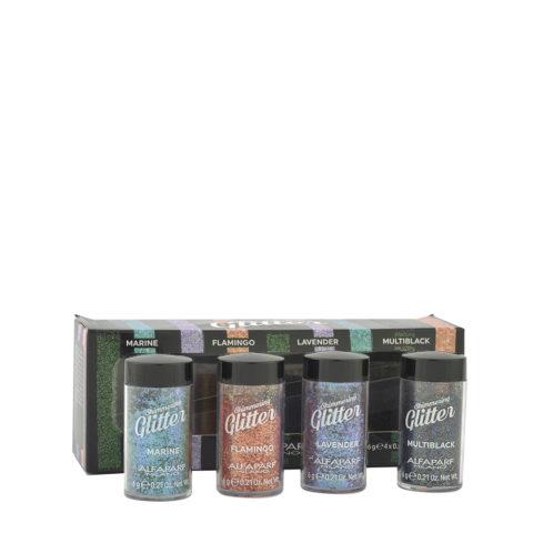 Alfaparf Styling Shimmering Glitter 4 Colori 4x6gr