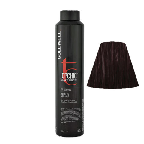 6N@AV Biondo scuro illuminato cenere violetto Goldwell Topchic Elumenated naturals can 250ml