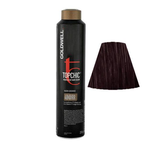 4B@RR Castano medio illuminato rosso intenso Goldwell Topchic Warm browns can 250ml