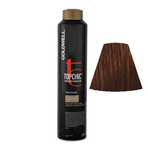 5BG@KK Castano chiaro bruno dorato illuminato rame intenso Goldwell Topchic Warm browns can 250ml