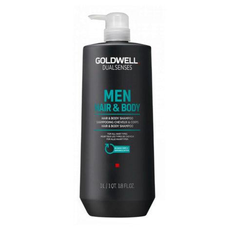 Goldwell Dualsenses Men Hair & body Shampoo 1000ml - shampoo corpo e capelli