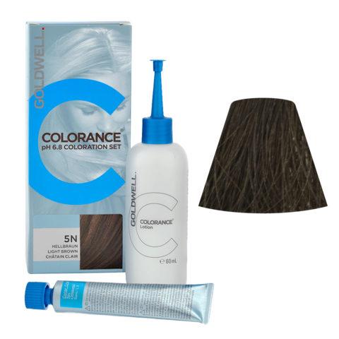 5N Castano chiaro naturale Goldwell Colorance Naturals Home set tb 30ml Lotion 60ml