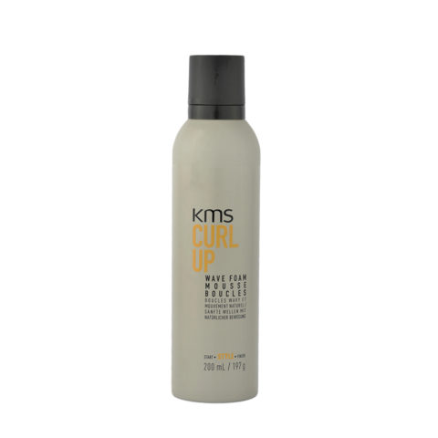 KMS CurlUp Wave Foam 200ml - schiuma ricci
