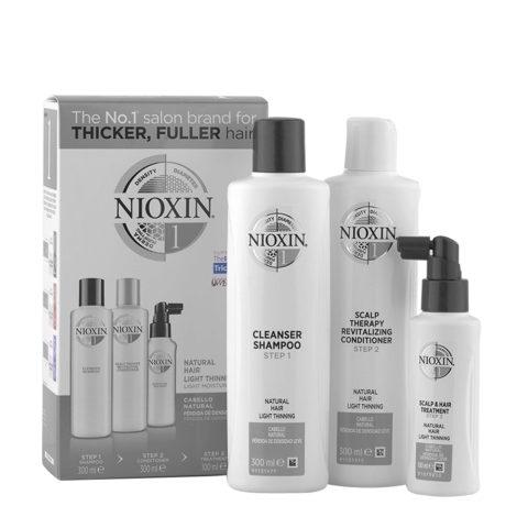 Nioxin Sistema1 Pacchetto completo XXL - capelli naturali diradati