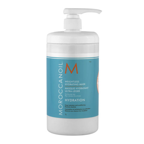 Moroccanoil Weightless hydrating mask 1000ml - Maschera Idratante Capelli Secchi
