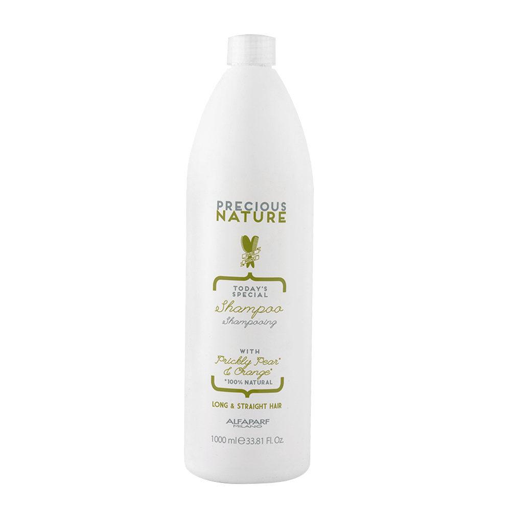 Alfaparf Precious Nature Shampoo With Prickly Pear & Orange Per Capelli Lunghi & Lisci 1000ml
