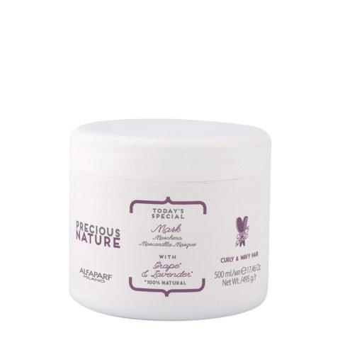 Alfaparf Precious Nature Mask With Grape & Lavender For Curly & Wavy Hair 500ml - Maschera Capelli Ricci E Mossi
