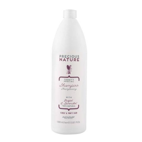 Alfaparf Precious Nature Shampoo With Grape & Lavender For Curly & Wavy Hair 1000ml - Capelli Ricci E Mossi