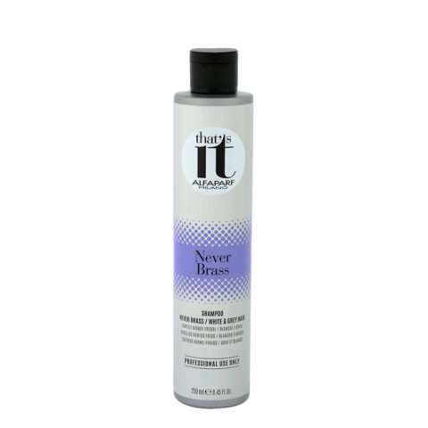 Alfaparf That'S It Never Brass Shampoo Cool Blondes White & Grey 250ml - Grigi E Biondi Freddi