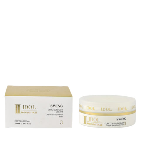 Medavita Idol Curly Swing Curl Contour Cream 150ml - Crema Anticrespo Per Ricci Tenuta Media