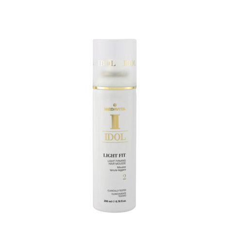 Medavita Idol Texture Light Fit Light Firming Hair Mousse 200ml - Schiuma Tenuta Leggera