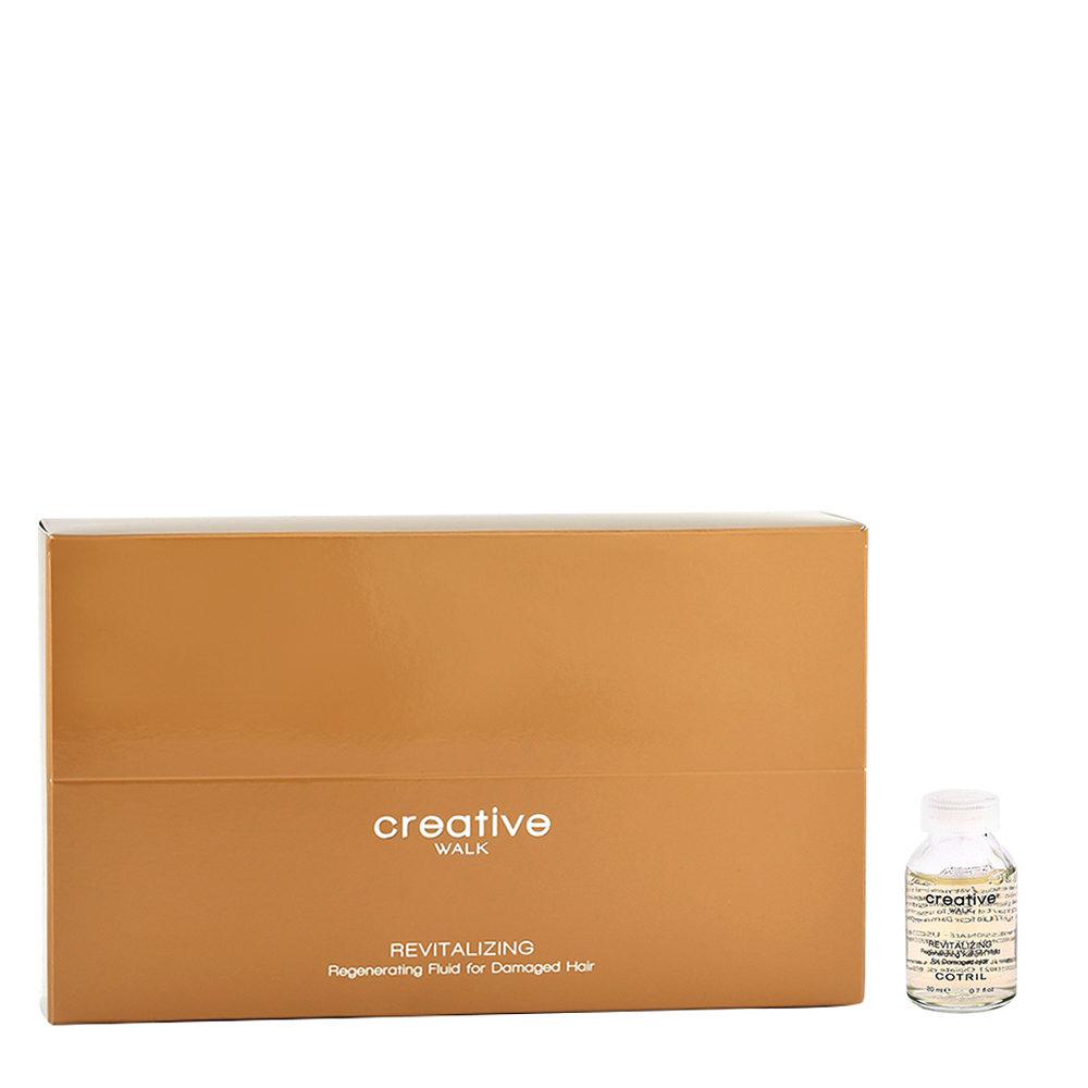 Cotril Creative Walk Revitalizing Regenerating Fluid for Damaged hair 12x20ml - ristrutturante per capelli danneggiati