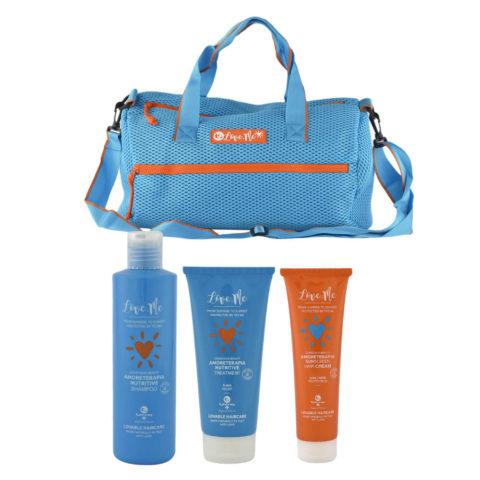 Tecna Sun Amoreterapia Shampoo 250ml Treatment 200ml Cream 150ml omaggio borsa