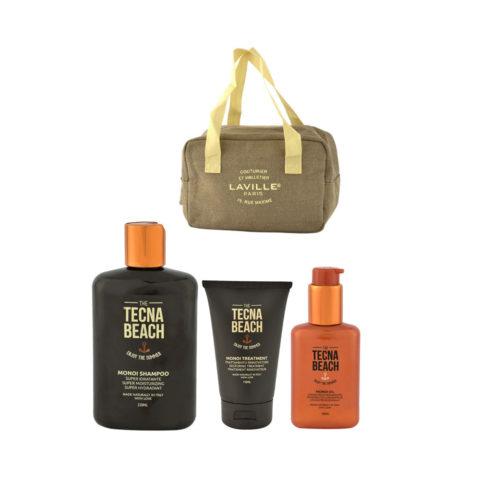 Tecna Beach Monoi Shampoo 250ml Treatment 150ml Oil 100ml omaggio borsa termica