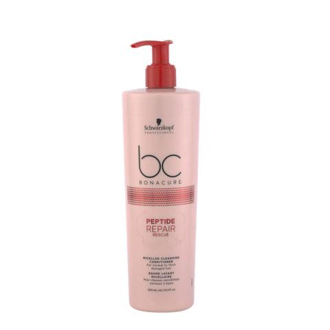 Schwarzkopf BC Bonacure Peptide Repair Rescue Cleansing Conditioner 500ml - shampoo e balsamo