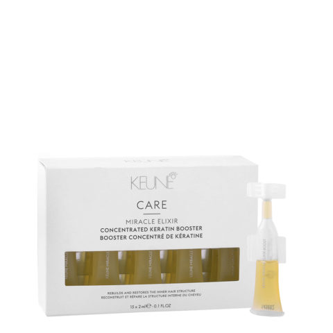 Keune Care Line Keratin smooth Miracle elixir booster 15x2ml - fiale anticrespo alla cheratina