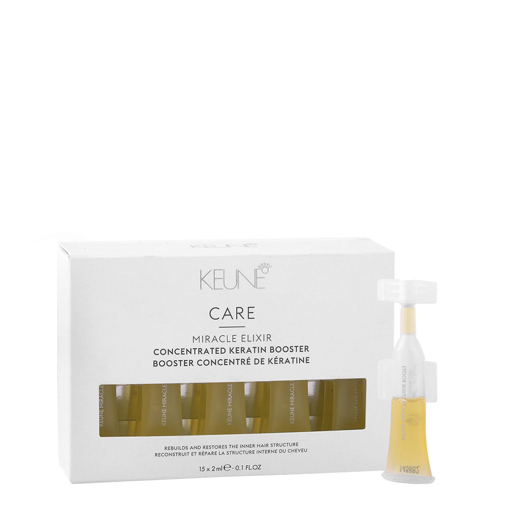 Keune Care Line Keratin smooth Miracle elixir booster 15x2ml - fiale anticrespo alla cheratina