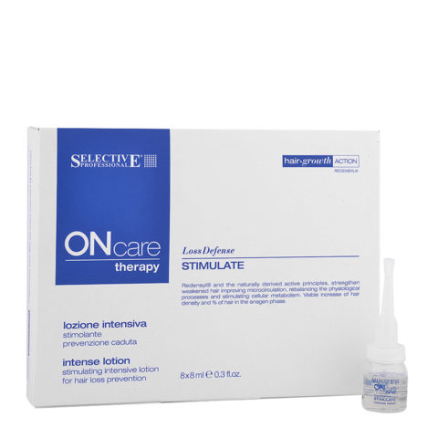 Selective On care Hair loss Stimulate intense lotion 8x8ml - lozione intensiva prevenzione caduta