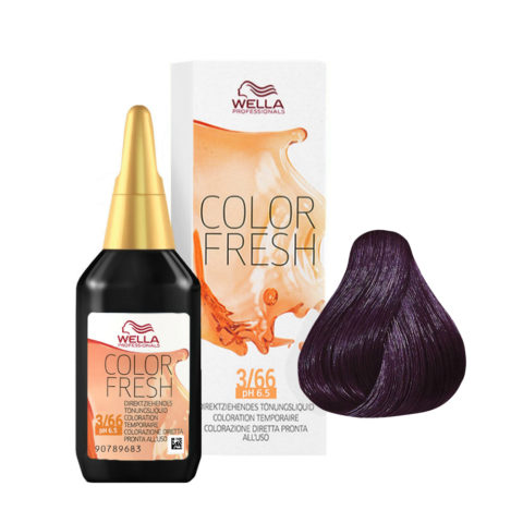 3/66 Castano scuro violetto intenso Wella Color fresh 75ml