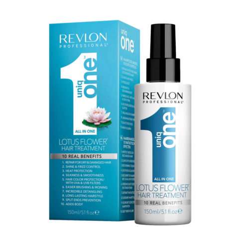 Uniq one All in one hair treatment Spray 150ml - spray 10 in 1 fiore di loto