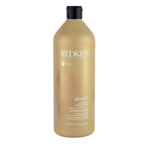 Redken All soft Shampoo 1000ml - shampoo idratante