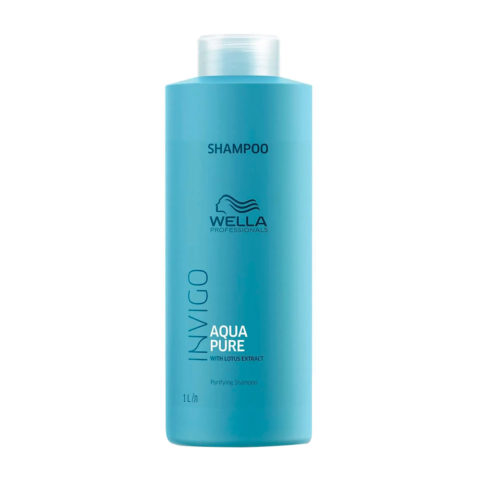 Wella Invigo Balance Aqua Pure Purifying Shampoo 1000ml - shampoo purificante
