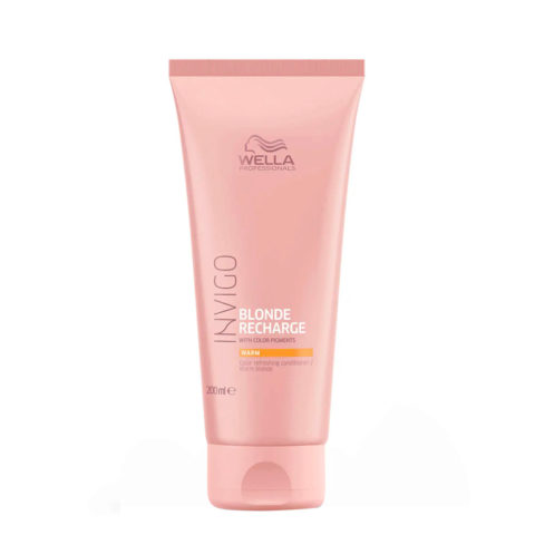 Wella Invigo Blonde Recharge Warm Blonde Color Refreshing Conditioner 200ml - balsamo biondi caldi