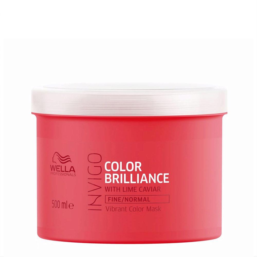 Wella Invigo Color Brilliance Mask capelli normali/fini 500ml