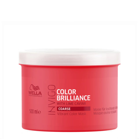 Wella Invigo Color Brilliance Vibrant Color Mask 500ml - capelli grossi