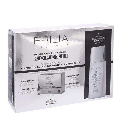 Creattiva Erilia Kopexil Cofanetto Anticaduta: Shampoo 250ml + fiale 20x8ml