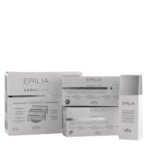 Erilia Sensicare Procapil Cofanetto Anticaduta: Shampoo 250ml + fiale 20x8ml