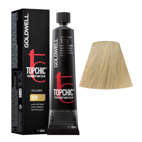 10V Biondo platino violetto Goldwell Topchic Cool blondes tb 60ml