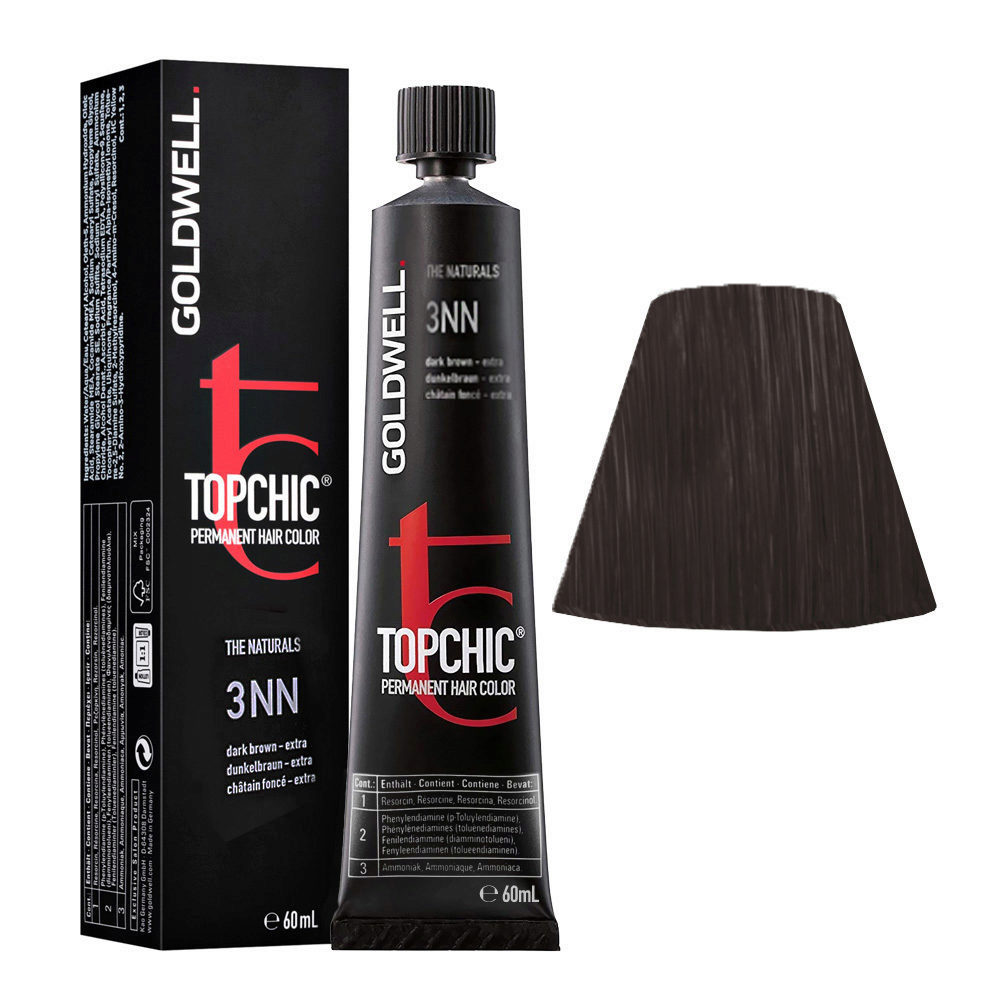 3NN Castano scuro intenso Goldwell Topchic Naturals tb 60ml