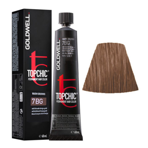 7BG Biondo medio dorato beige Goldwell Topchic Warm browns tb 60ml