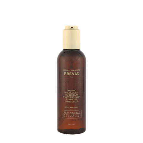 Previa Finish Organic Hydrolized Verbascum Thapsus Flower Luminous Shine Glaze 200ml - siero illuminante